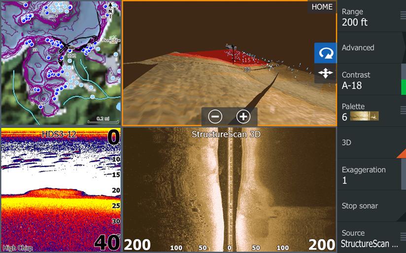 StructureScan 3D - Сравнение 2D и 3D. Посмотрите на StructureScan® HD и StructureScan® 3D в одно и тоже время – это быстрый способ понять, во что вы верили все эти годы!